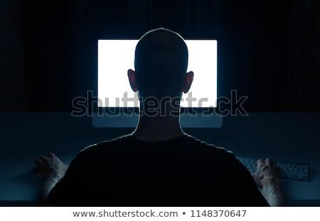 Stock fotó: Man Surfing On Internet