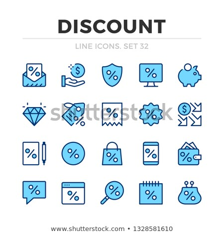 Seasonal Offer Blue Vector Icon Design stock photo © rizwanali3d
