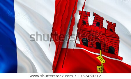 France and Gibraltar Flags  Stock photo © Istanbul2009