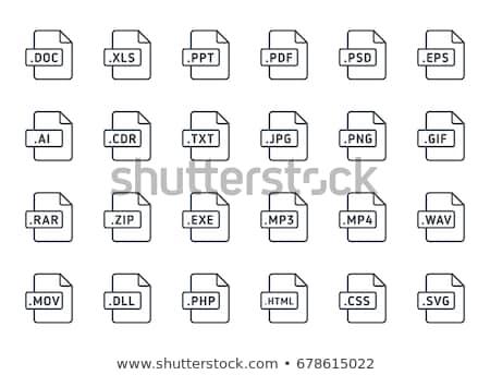 Foto stock: Archivo · tipo · icono · Internet · web · presentación