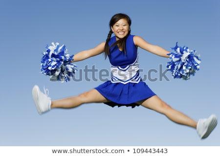 Pretty Cheerleader With Pom Poms Stock photo © ClipArtMascots