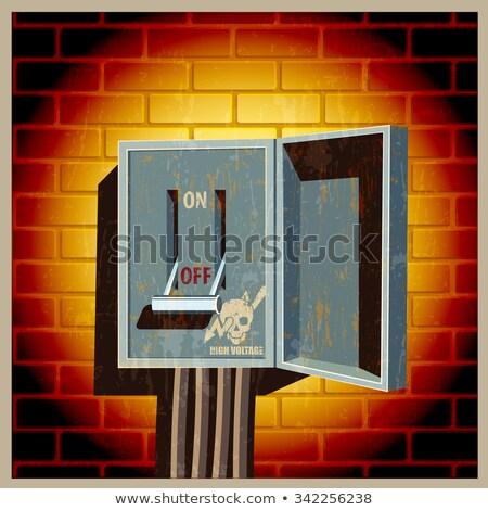 Elektrische boord mes schakelaar Open positie Stockfoto © tracer