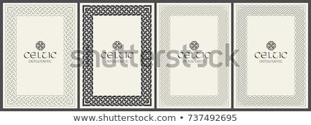 Stock photo: Celtic knot braided frame - rectangle