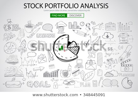 Stock Portfolio Analysis Concept with Doodle design style Stock photo © DavidArts