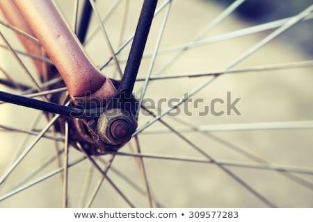 roda · bicicleta · quadro · aço · pneu - foto stock © ziprashantzi