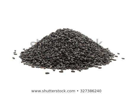 Köteg organikus fekete szezám makró Stock fotó © ziprashantzi