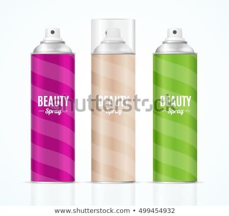 Ilustração aerossol spray cabelo desodorante isolado Foto stock © ZARost