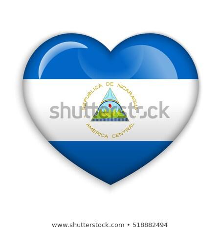 Nicarágua coração bandeira ícone amor símbolo Foto stock © netkov1