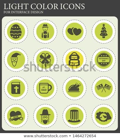 Nap egyszerűen ikonok szimbólumok webes ikonok tűz Stock fotó © ayaxmr