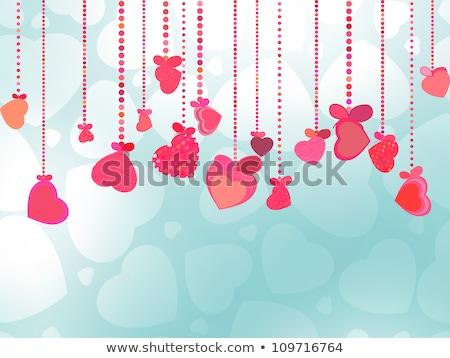 kalpler · çerçeve · el · boyalı · su · renk - stok fotoğraf © beholdereye