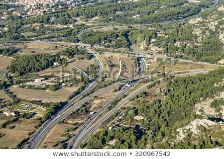 aerial view of highway near Marseille Stock photo © meinzahn