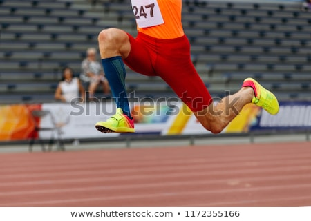 man competing in the triple jump Stock photo © kjpargeter