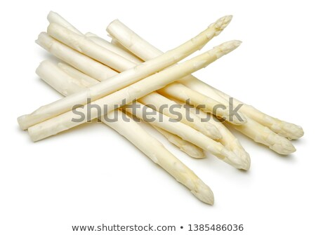 Bundle of fresh white asparagus on a white background Stock photo © Zerbor