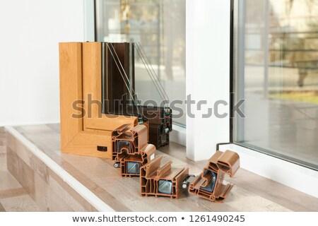 Farklı pvc pencere duvar doğa dizayn Stok fotoğraf © mady70