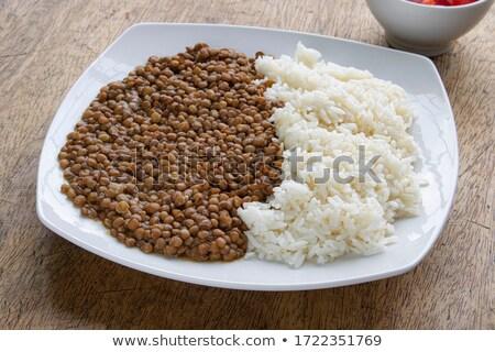 arroz · fundo · refeição · cebola · tempero - foto stock © M-studio