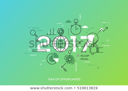 Stock photo: Business opportunities in New 2017 year