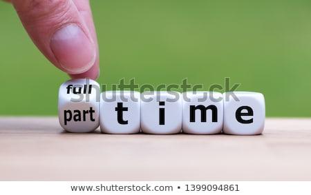 time to work word stock photo © fuzzbones0