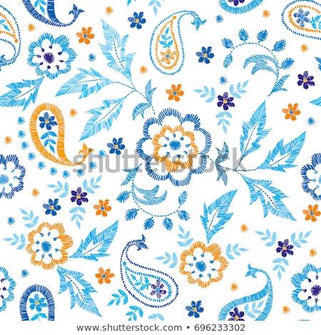 Paisley Embroidery Stock photo © hpkalyani