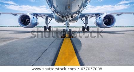 Sunset aircraft flight Stock photo © alphaspirit