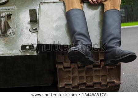 soldaat · slagveld · illustratie · berg · strijd · planten - stockfoto © bluering