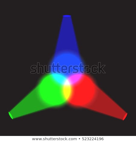 Abstract three cyan spotlights vector background. Stock photo © tuulijumala
