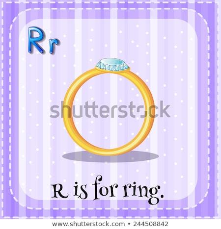 R betű gyűrű illusztráció háttér művészet oktatás Stock fotó © bluering