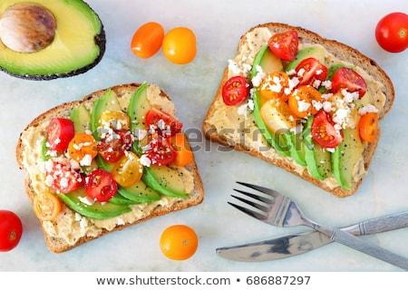 Egészséges vegetáriánus szendvics egy tojások egyéb Stock fotó © Peteer