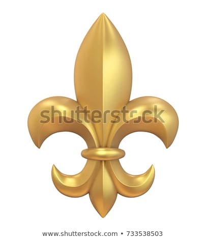 Golden Fleur de Lis stock photo © blackmoon979