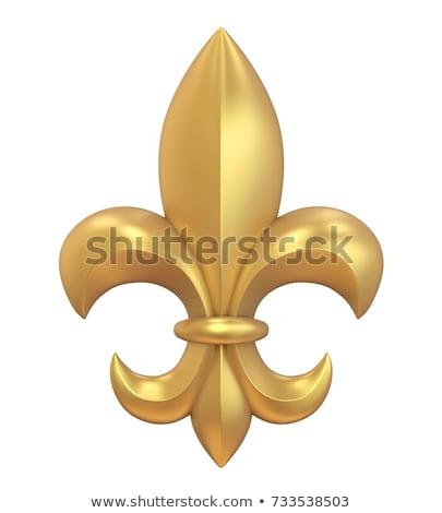 Golden Fleur de Lis Stock photo © blackmoon979