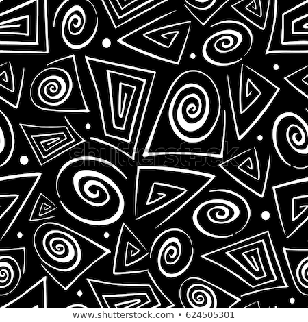 Filled black geometric figures and elements with lines, triangle Stock photo © Vanzyst