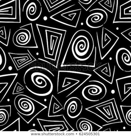 Stock fotó: Fekete · mértani · elemek · vonalak · háromszög · rajz