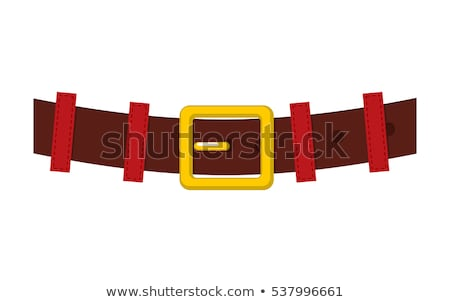 Belt Santa Claus isolated. strap with gold buckle for Christmas  Stock photo © MaryValery