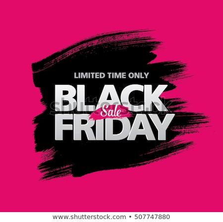 Grunge black friday design illustration noir encre Photo stock © SArts