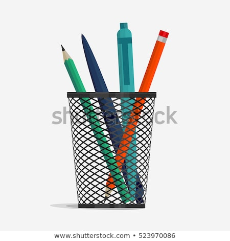 Pen and pencil in holder basket Stock photo © Andrei_
