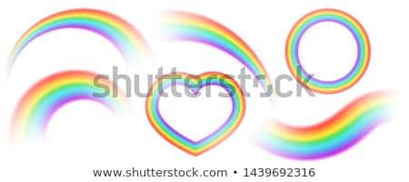 Wave abstract background rainbow isolated on white background Stock photo © cosveta