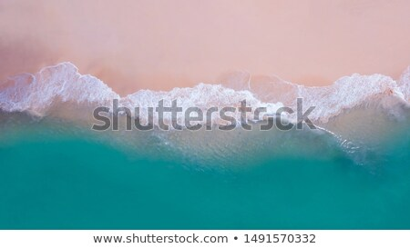 Stock photo: Sea wave on the sand