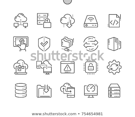 data transfer line icon stock photo © rastudio