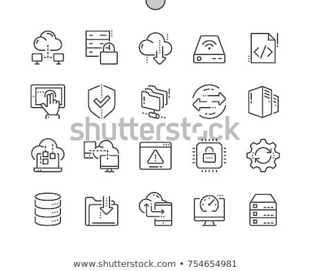 データ 転送 行 アイコン ベクトル 孤立した ストックフォト © RAStudio