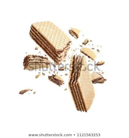 Mogyoró krém ostya ropogós étel desszert Stock fotó © Digifoodstock