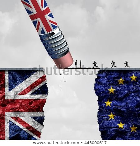 referéndum · ue · Reino · Unido · bandera · bordo · dedo · del · pie - foto stock © tussik