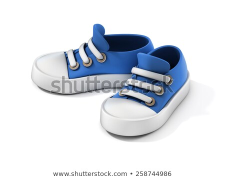 Children blue sneaker Stock photo © ElaK