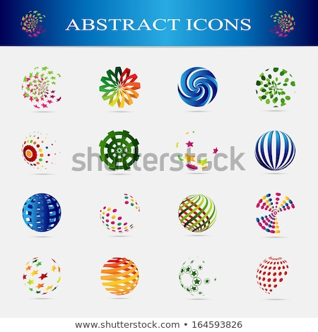 abstract logo design circle of ribbons isolated on white background vector illustration stock photo © lucia_fox