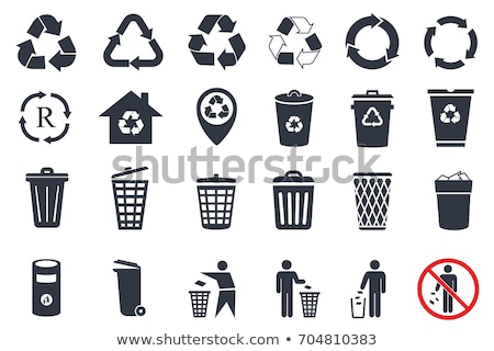 garbage set rubbish icon collection trash sign litter symbol stock photo © maryvalery