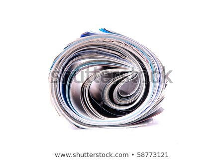 background of rolled magazines against white stock photo © kayros