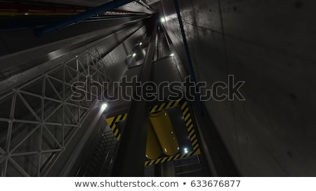upping elevator lift view inside elevator shaft technology and industrial concept Stock photo © denisgo