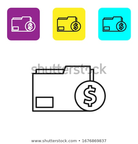 invoice and dollar sign. illustration design Stock photo © alexmillos