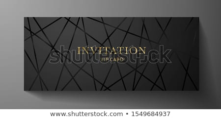 certificate template with golden and black shapes vector Stock photo © SArts
