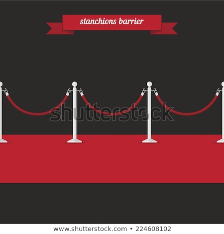 flat style illustration of red carpet. Stock photo © curiosity