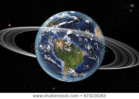 toprak · uzay · güney · amerika · gibi · halkalar - stok fotoğraf © timh