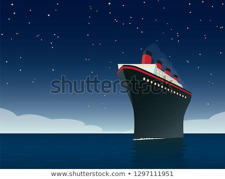 ocean · stylizowany · morza · podpisania · łodzi · statku - zdjęcia stock © tracer